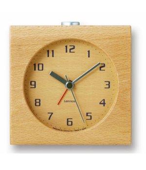 """Lemnos Design Wecker """"Block"""" - aus einem Stück Holz gefertigt"""