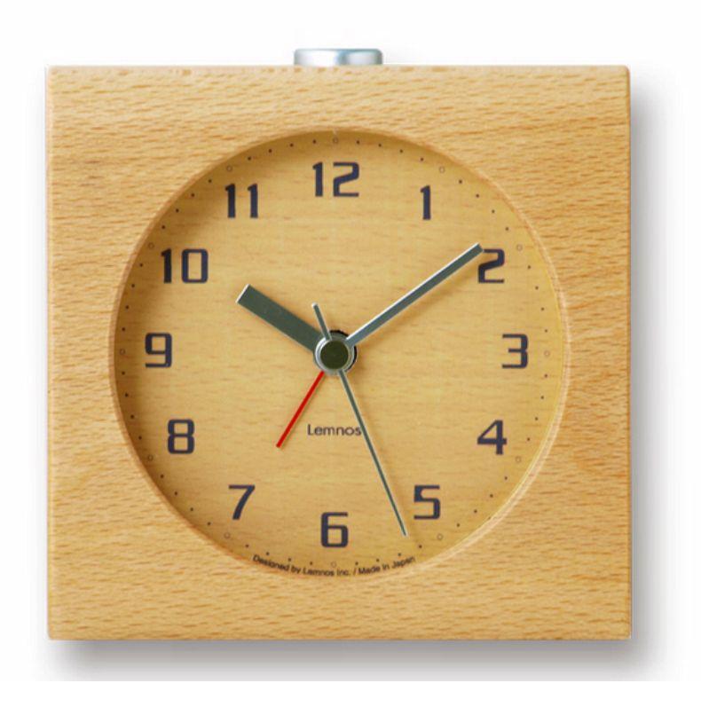 lemnos design alarm clock 39 block 39 carved from a solid block of wood wilhelmina designs. Black Bedroom Furniture Sets. Home Design Ideas