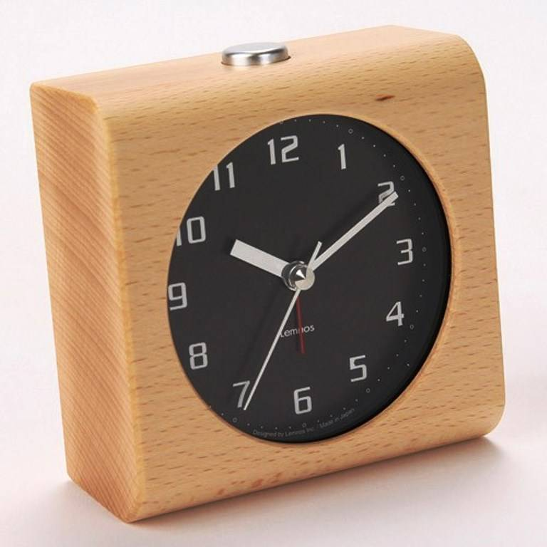 lemnos design alarm clock 39 block 39 carved from a solid