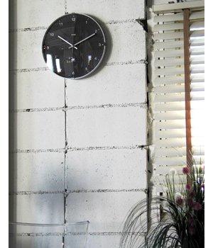 "Lemnos ""North"" Wanduhr modernes Design aus Aluminium und Glas"