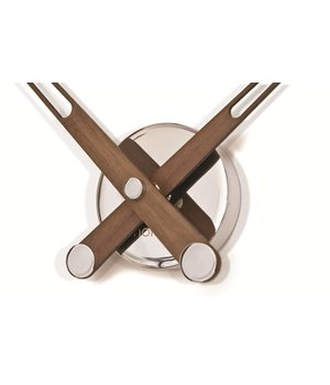 Nomon Design Uhr nur mit Holzzeigern, Axioma 73 cm