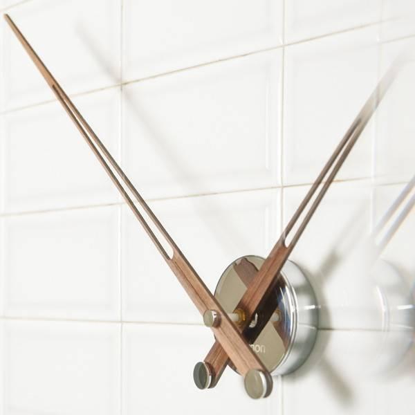 Nomon Design klok met alleen houten wijzers, Axioma 73 cm