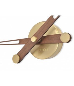 Nomon 'Axioma N - Gold' wooden hands-only clock