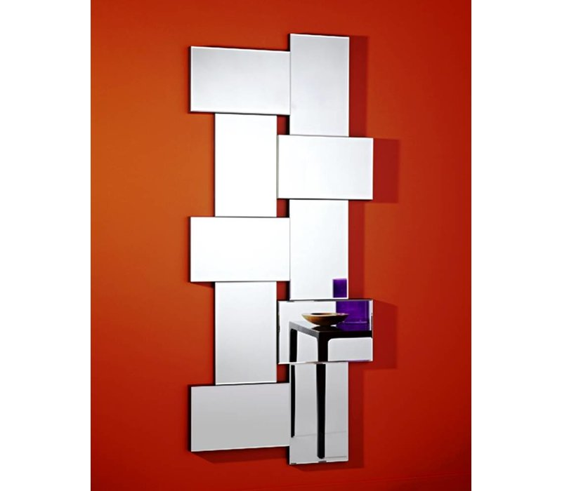 Bijzondere moderne spiegel 'Criss Cross' van Deknudt