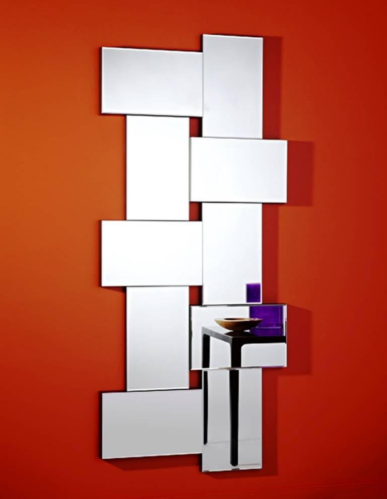Deknudt bijzondere moderne spiegel 39 criss cross 39 van deknudt wilhelmina designs - Designer woonkamer spiegel ...
