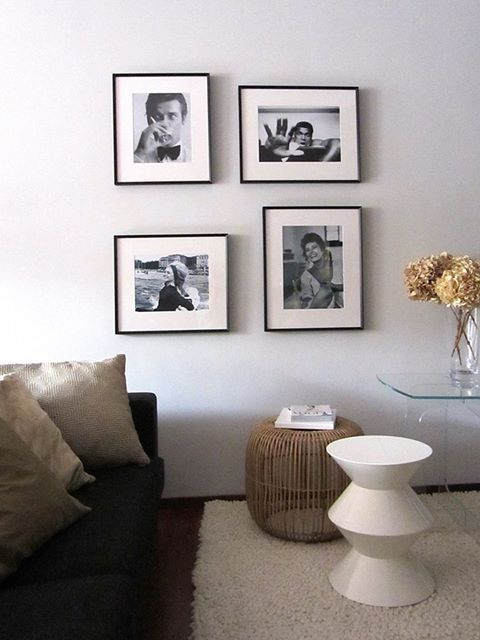 Celebrity pictures as wall decor