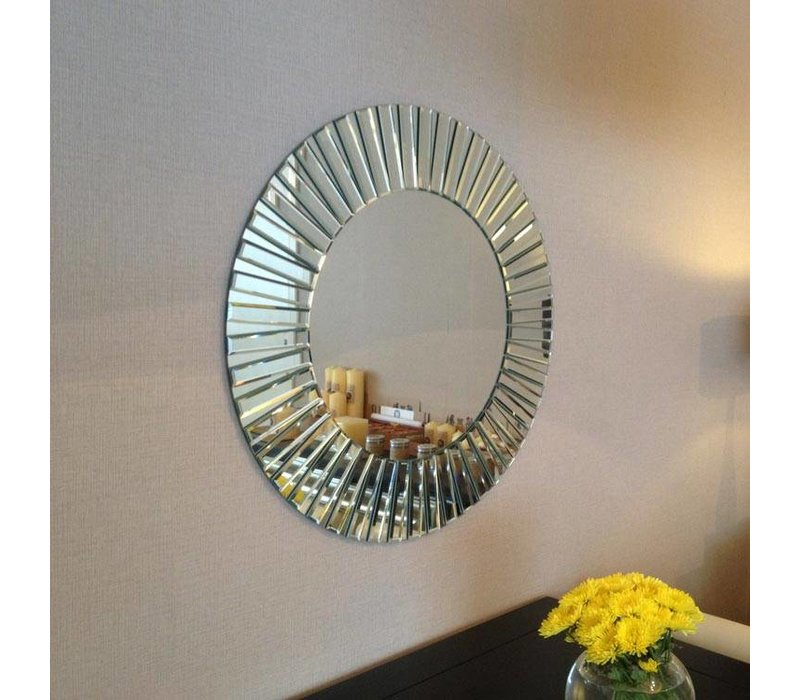 Cheerful, round design mirror, 'Sunny'