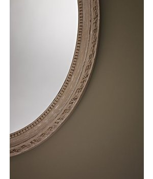 Deknudt Small oval mirror 'Cosy' 36x50cm in beige