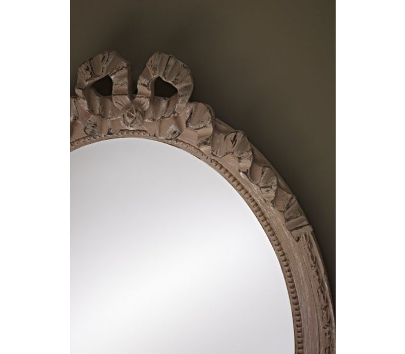 Small oval mirror 'Cosy' 36x50cm in beige