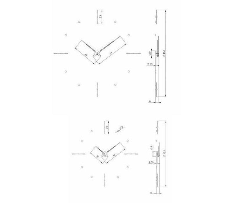 'Mixto' XXL klok diameter 110, 125 of 155 cm handgemaakt in Spanje