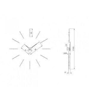 """Nomon Wanduhr XXL """"Merlín"""" im minimalistischen Design"""