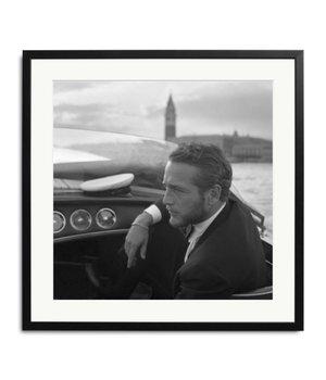 Paul Newman Schwarz Weiß Foto in Rahmen