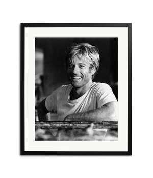 Robert Redford black and white picture