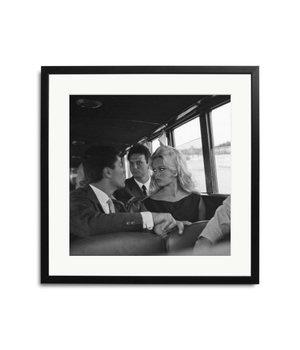 Brigitte Bardot Schwarz Weiß Bild eingerahmt