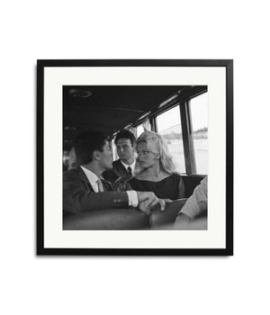 Brigitte Bardot zwart wit foto in lijst