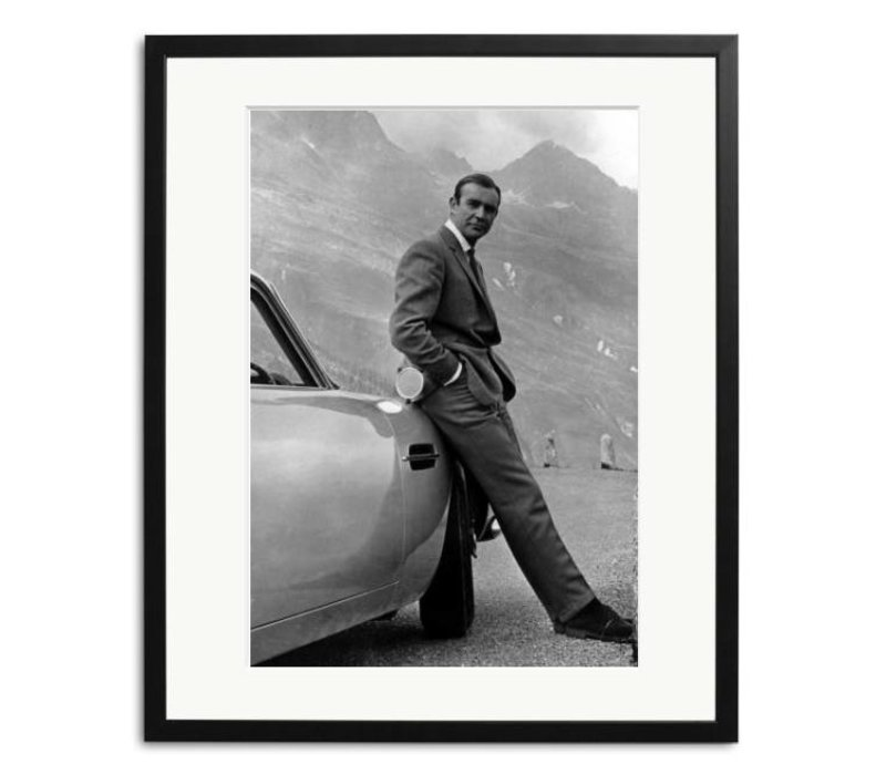 Sean Connery als James Bond zwart wit foto in lijst