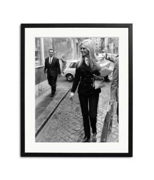 Brigitte Bardot in Rome framed picture