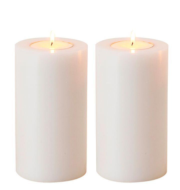 Artificial Candle Set Large Wilhelmina Designs