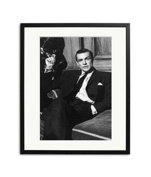 Sean Connery in Woman of Straw Schwarz Weiß Foto eingerahmt