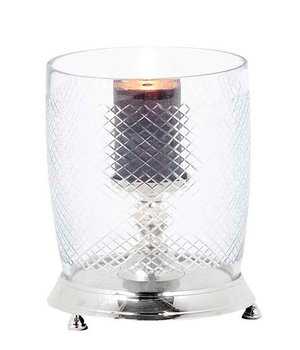 Eichholtz Glass candle holder with cut glass