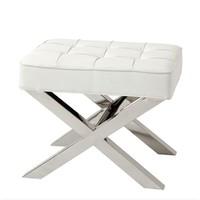 Footstool white Beekman Place