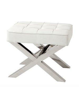 Eichholtz Footstool white Beekman Place
