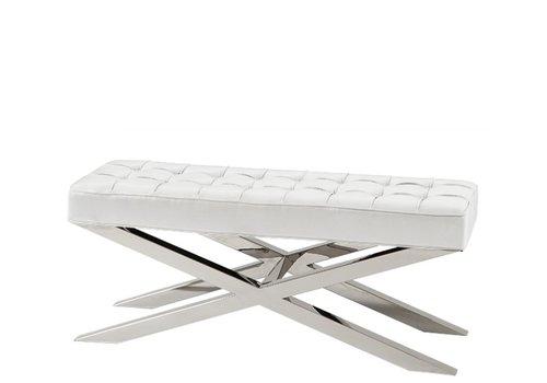 Eichholtz Leather footstool white