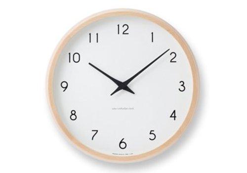 Lemnos Designer wall clock Campagne