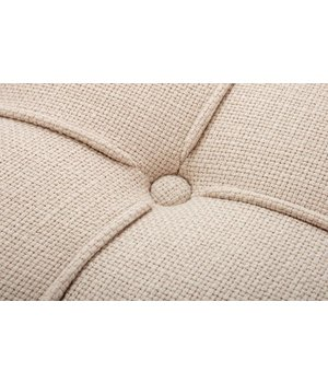 Eichholtz Small footstool natural linen Beekman Place by Eichholtz