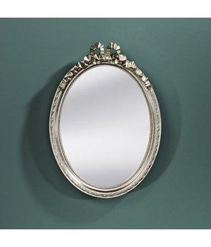 Deknudt Kleine spiegel ovaal 'Cosy' 36x50cm - Zilver