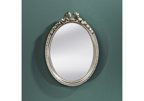 Deknudt Small oval mirror 'Cosy' in silver