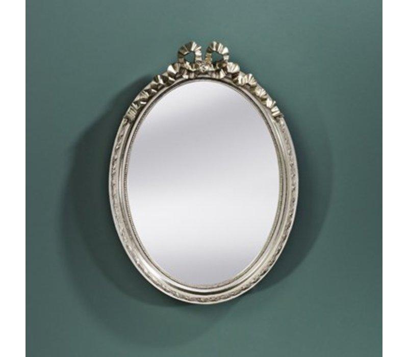 Kleine spiegel ovaal 'Cosy' 36x50cm - Zilver