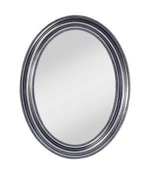 Deknudt Ovaler Spiegel 'Pearl' 67 x 87 cm mit silbernen Rahmen