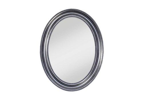 Deknudt ovale spiegel 'Pearl' zilver