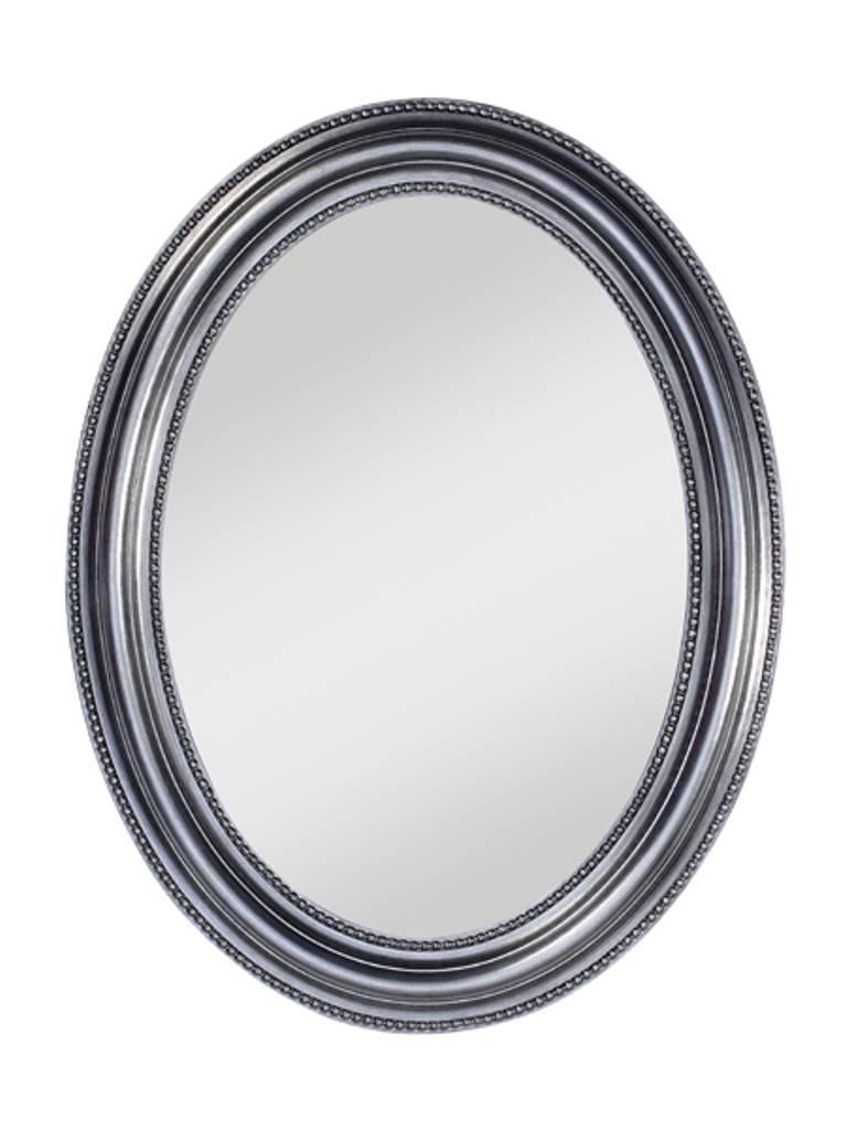 deknudt ovaler spiegel 39 pearl 39 67 x 87 cm mit silbernen rahmen wilhelmina designs. Black Bedroom Furniture Sets. Home Design Ideas