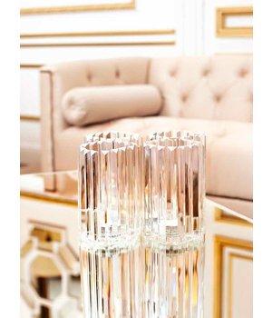 Eichholtz Gläserner Kerzenständer aus Kristall 'Howell' 2 Stück
