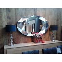 Wandspiegel modern 'Precious' in silberem Rahmen