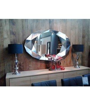 Deknudt Wandspiegel modern 'Precious' in silberem Rahmen