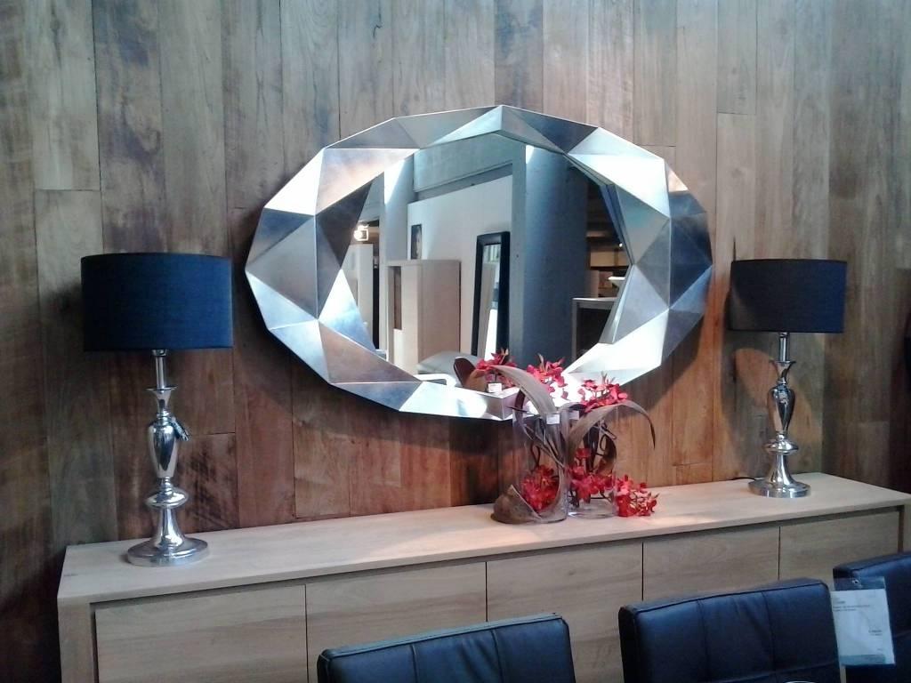 deknudt wandspiegel precious met zilveren lijst. Black Bedroom Furniture Sets. Home Design Ideas