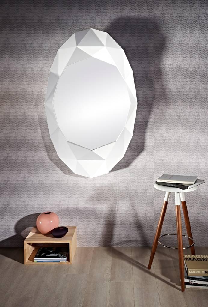 deknudt wandspiegel modern 39 precious 39 in wei em rahmen. Black Bedroom Furniture Sets. Home Design Ideas