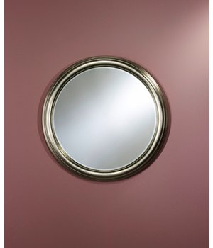 Deknudt Silberner Spiegel rund 'Ring' Durchmesser 91 cm