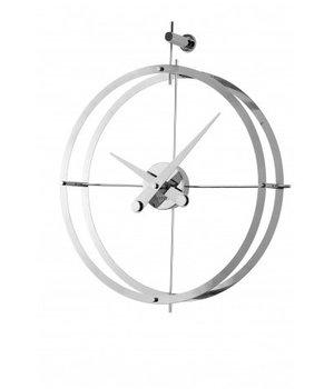Nomon Design Wanduhr '2 Puntos' verchromt Diameter 43 cm