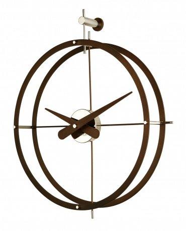 Design Wanduhr nomon design wanduhr 2 puntos calabo holz diameter 43 cm