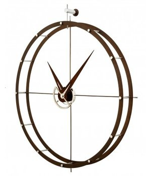 Nomon Design Wanduhr 'Doble O n' Calabo Holz Durchmesser 70 cm
