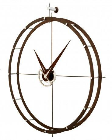 design wanduhr nomon doble o n calabo holz durchmesser 70 cm wilhelmina designs