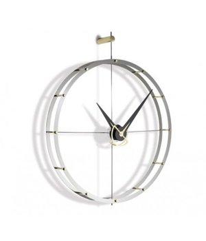 Nomon Design Wanduhr 'Doble O g' verchromtes Stahl Durchmesser 70 cm