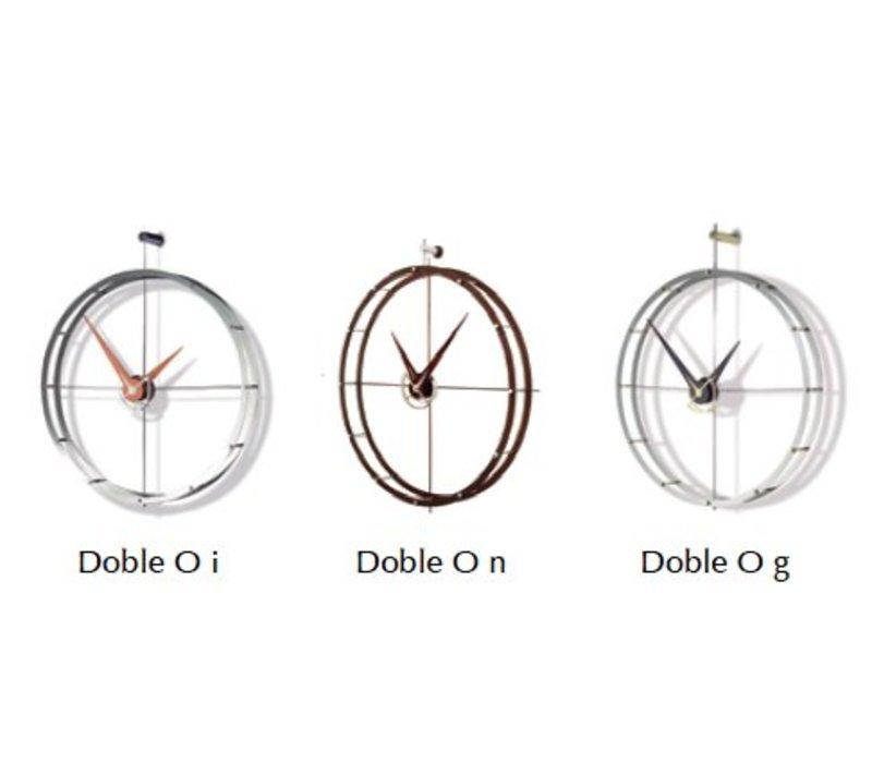 Design Wanduhr 'Doble O n' Calabo Holz Durchmesser 70 cm
