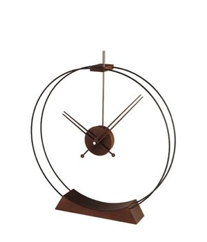 Nomon Desktop clock 'Aire' in stained ash wood, diameter 50cm