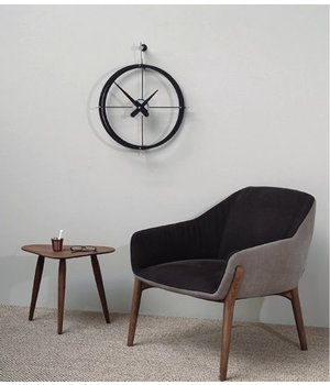 Nomon Design Wanduhr '2 Puntos' Calabo Holz Diameter 43 cm