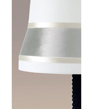 Contardi Design table lamp 'Audrey' large decorated with silk detail